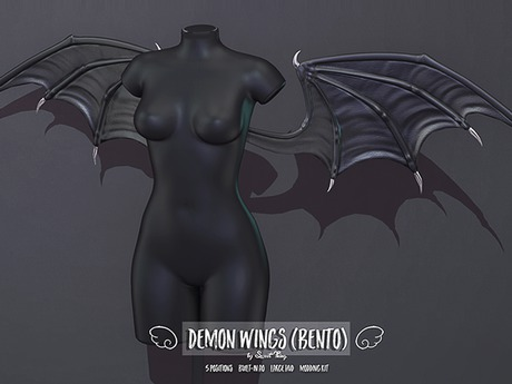 HOLIDAY PROMO PRICE!! Sweet Thing. Demon Wings (Bento) for Succubus Bat Devil Fantasy Cosplay RP