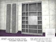 *+SAIKIN shelf cement mortar finish