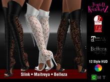::TK:: Angelique Lace Panel Tall Boots