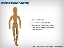 Rigged Wooden Dummy Avatar