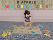 [Killi's] Wooden Puzzle - Playable / Sit Pose