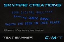 :SFC: Text Banner