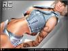 cHix Whiskey Denim Outfit Savaged - Maitreya, Slink, Belleza, Tonic