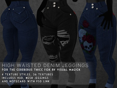 Visual Magick // Thicc Fox High Waisted Jeggings