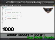 Route 84 Customs - Group Security Script Builders Kit