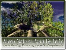 Mesh Nature Pond by Felix 37 Prim=25x25m Size copy/mody