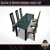 Black & White Dining Table - PG Version - BOXED
