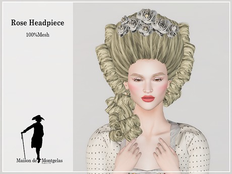 MdM - Rose headpiece