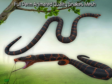 Full Perm  Amazing Animated Snake Pack HQ  Mesh
