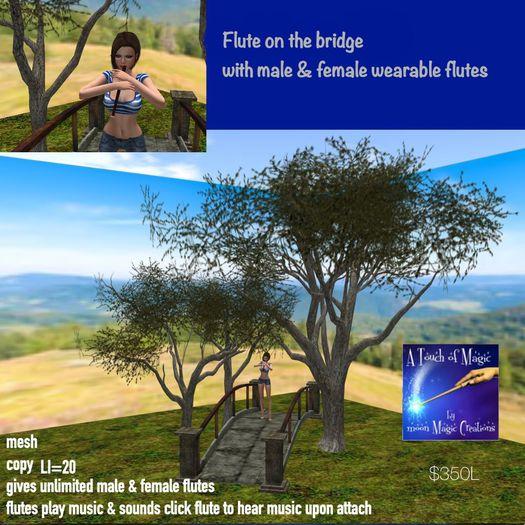 Flute on a Bridge-crate