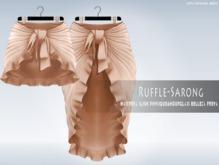iS Ruffle Sarong Long&Short NUDE
