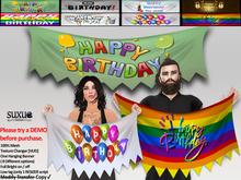 [SuXue Mesh] Happy Birthday 8 Different Hanging Banner