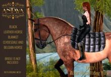 :: ANTAYA :: WHRH Black leather horse blanket \ Drafts (wear)