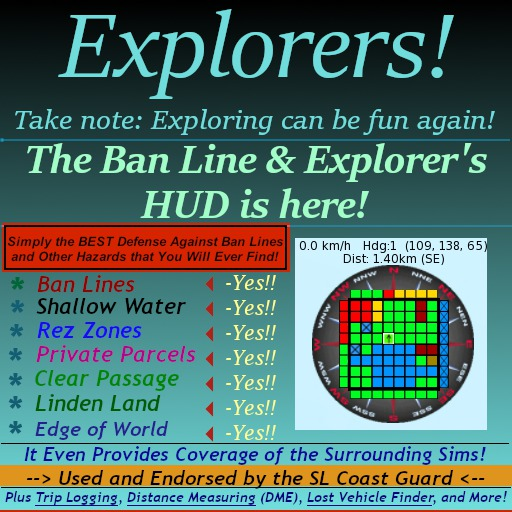 Ban Line / Explorer HUD / Professional Quality for Pilots, Boaters, Planes, All Vehicles, even Landlords!