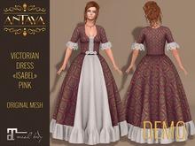 """:: ANTAYA :: Victorian dress """"Isabel"""" pink DEMO Maitreya"""