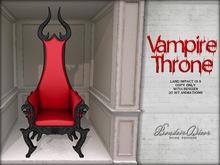 Boudoir Vampire Throne Black/Red