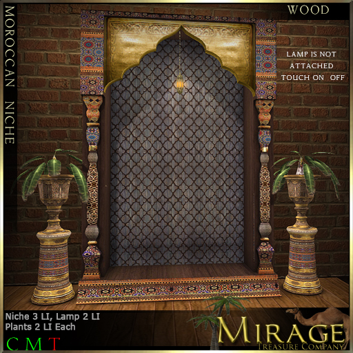 =Mirage= Moroccan Niche - Wood
