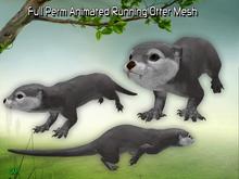 Full Perm Amazing Animated Running Otter HQ  Mesh