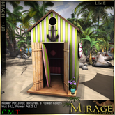 =Mirage= Beach Hut - Lime