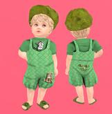 Lexxie Totsipop Infant Green Kitties Combo
