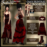 C&F Sabine Burlesque Outfit Bundle w/ Appliers RED
