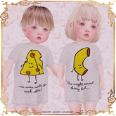 LeMomo: Long Tee - Macaroni&Cheese [Baby Toddleedoo] GIFT!