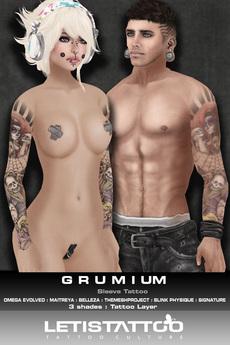 Letis Tattoo :: Grumium :: Sleeve Tattoo & Appliers