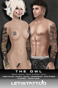 Letis Tattoo :: The Owl :: Sleeve Tattoo & Appliers