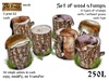 Set of wood stumps - Old World - Garden decorations - Rustic / Medieval