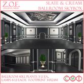 Z.O.E. Slate & Cream Ballroom Skybox