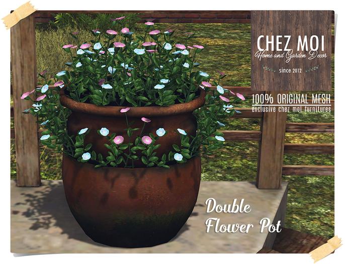 Double Flower Pot ♥ CHEZ MOI