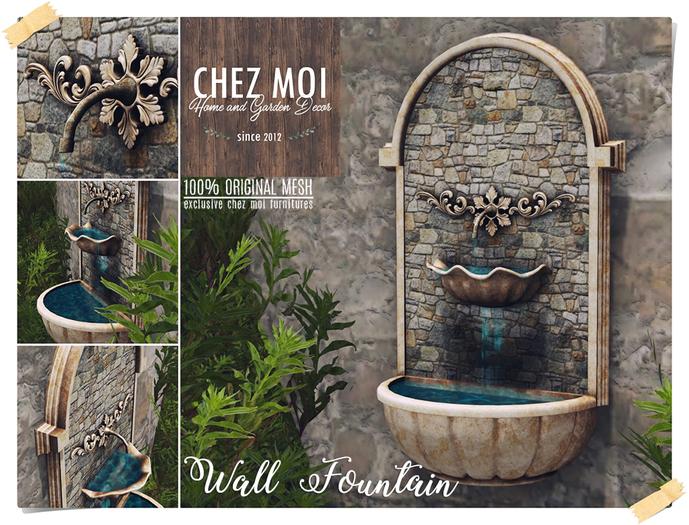 Wall Fountain ♥ CHEZ MOI