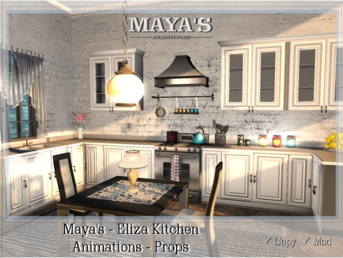 Maya's - Eliza Kitchen - Animations / Props