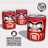 Schadenfreude Daruma Coffee Cans