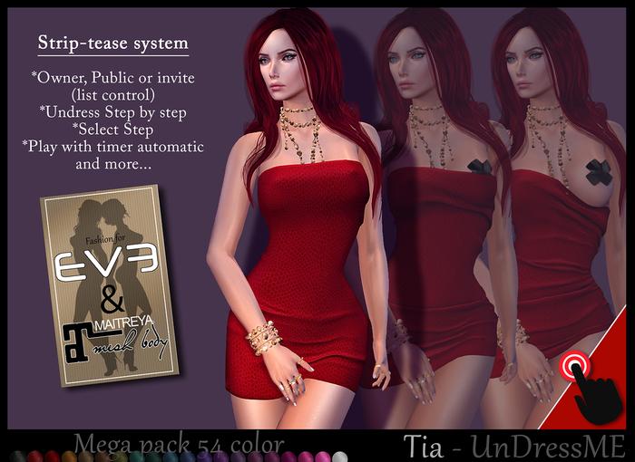 *!* Tia - Undress Me - MegaPack - for EVE & Maitreya