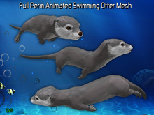 Full Perm Amazing Animated Swimming Otter Mesh