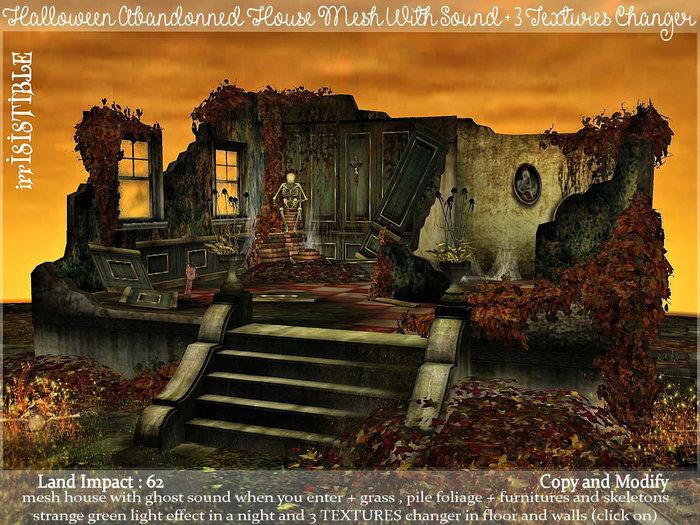 irrISIStible : HALLOWEEN ABANDONNED MESH HOUSE 3 TEXTURE CHANGE