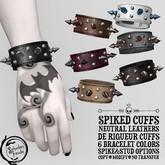 Schadenfreude Spikes/Neutral Leather De Rigueur Cuffs