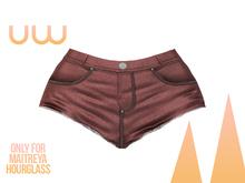 *UW* Calor red Short Jean for Hourglass and Maitreya