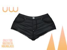 *UW* Calor black Short Jean for Hourglass and Maitreya