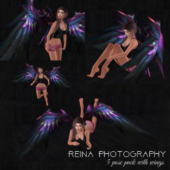 {RP} Falling Angel Pose Pack with wings -* MP Sale*
