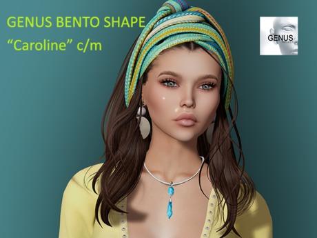 """Caroline"" Bento Shape for Genus Classic W001 Head"