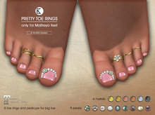 [*K*] Pretty Toe Rings