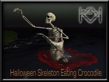 KHARGO HALLOWEEN SKELETON EATING CROCODILE