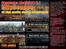 Panorama RealView 3.1 CityScapes backgroud system privacy screens skyline skylines urban city skyscrapers industrial