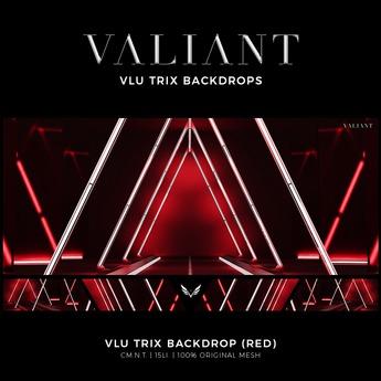 VALIANT - Vlu Trix Backdrop (Red)
