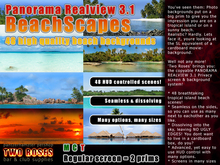 Panorama RealView 3.1 BeachScapes backgroud system privacy screens beach beaches tropical tiki island landscapes