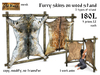 Furry skins on wood stand v2 - Old World - Rustic / Medieval Furniture - Medieval