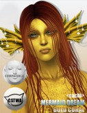 <cachi> Mermaid Dream - Gold Coral SKIN *wear me*