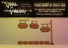 Gods of Valor - Fancy CasperLet Rental Sign Set